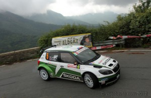 Экипаж Яна Копецки на Rallye Sanremo 2012