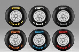 Маркировка шин Pirelli для Формулы-1 в сезоне 2012 года