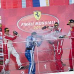 Алексей Басов на подиуме Ferrari Challenge Trofeo Mondiali