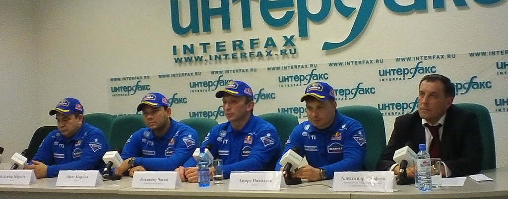 Команда КАМАЗ-Мастер на пресс-конференции в Интерфаксе 19.12.2012