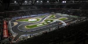 Трасса Race of Champions 2012 на стадионе Раджамангала в Бангкоке.