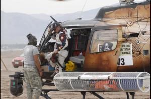 Дакар 2013. Шестой день. Карлос Сайнс прибыл с трассы на вертолете